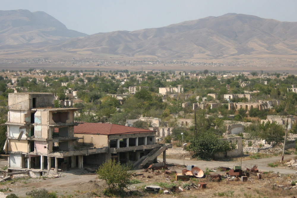 The ghost town of Agdam