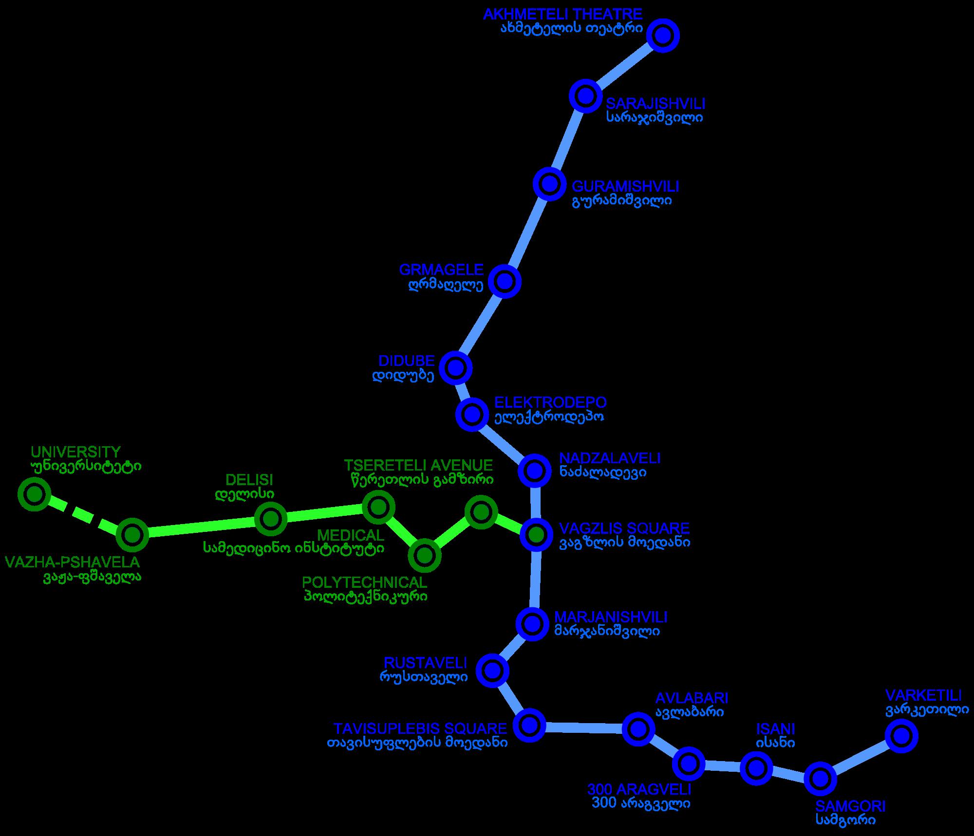 public transport system in Tibilisi