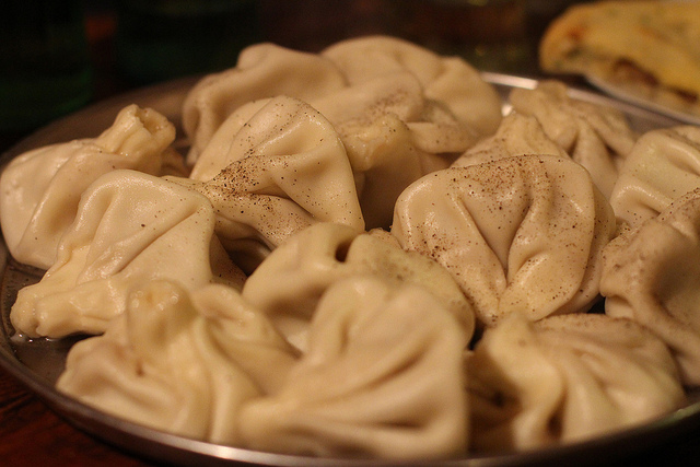 Georgian food khinkali
