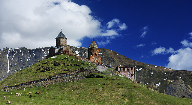 mysterious mountain church kazbegi